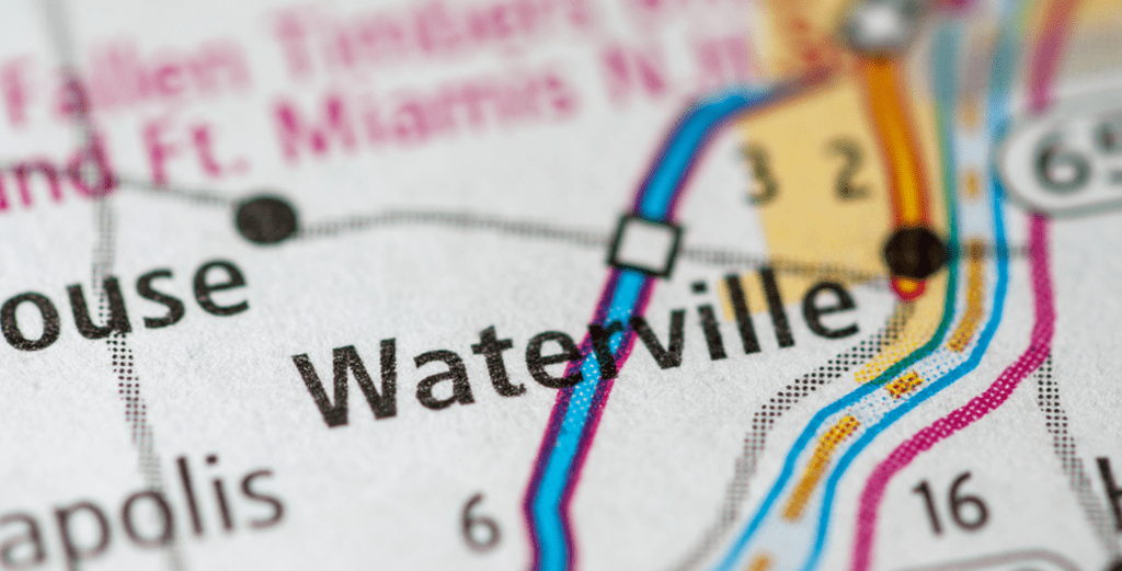 Map showing location for Waterville Ohio