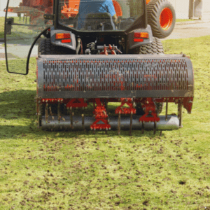 professional core aerated lawn
